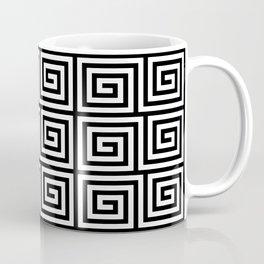 Hollywood Regency Greek Key Pattern Black and White Coffee Mug