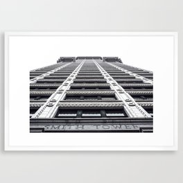 Smith Tower Front Framed Art Print