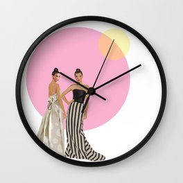 Polka Dot and Stripes Wall Clock