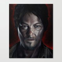 daryl Canvas Prints featuring Daryl by Voss fineart