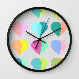 many hearts Wall Clock