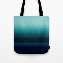Teal to Indigo Ombre Design Tote Bag