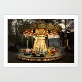 merry-go-round (with vignette) Art Print