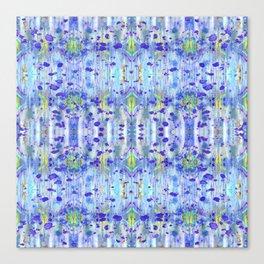 Royal Blue Ikat Canvas Print