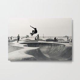 Skateboarding Print Venice Beach Skate Park LA Metal Print