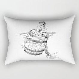 Mermaid and barrel Rectangular Pillow