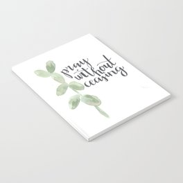pray without ceasing // watercolor bible verse leaf Notebook