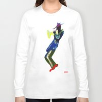 trumpet Long Sleeve T-shirts featuring Trumpet Man by Myles Hunt