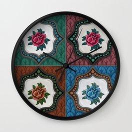 Peranakan Tiles (Textured Multi) Wall Clock