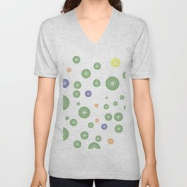 colorful circles Unisex V-Neck
