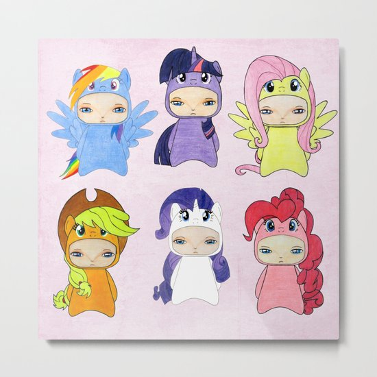 A Boy - Little Pony Metal Print