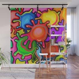 Vibrant Paint Splats Wall Mural