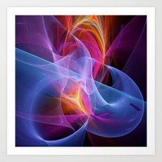 Colourful transparent magic Art Print