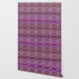 Memories of Woven Grass, Plum Wallpaper