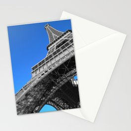 Paris eiffel tower black and white with color Stationery Cards