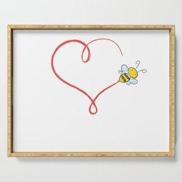 Heart Bumblebee Bee Trajectory Honey Gift Serving Tray