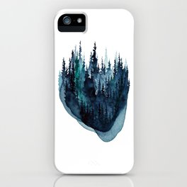 Turquoise Glow - Pine Forest iPhone Case