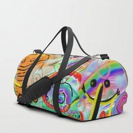 Taino Echoes - Puerto Rico Tribal Ethnic Art Duffle Bag
