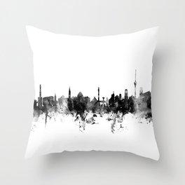 Stuttgart Germany Skyline Throw Pillow