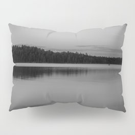Black and White Sunset on Little Loon Pillow Sham