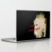 dramatical murder Laptop & iPad Skins featuring Murder Board by Sybille Sterk