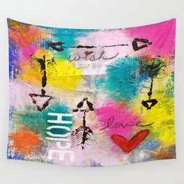 Wish Love Hope Wall Tapestry
