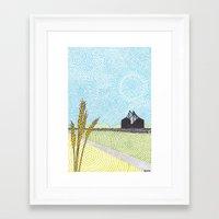 oklahoma Framed Art Prints featuring Oklahoma by NEMO