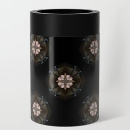 Beige Cross Flower Pattern Can Cooler
