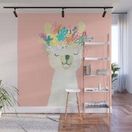 Llama Goddess Wall Mural