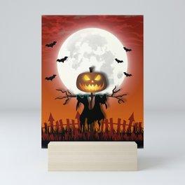 Halloween Scarecrow Mini Art Print