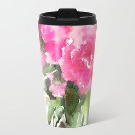 soft pink peonies Travel Mug