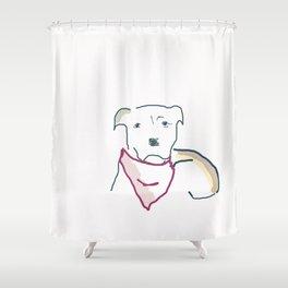 puppy eyes Shower Curtain