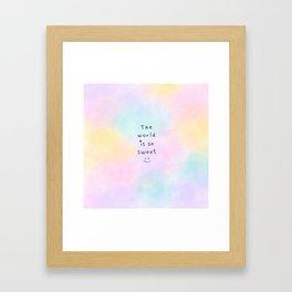 The World is so Sweet Framed Art Print