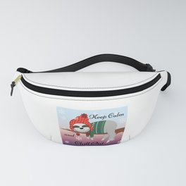 Keep Calm and Chill Out Sloth Design Fanny Pack