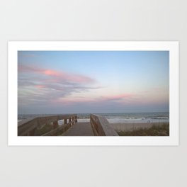 Candy Floss at the Beach Art Print