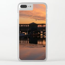 Orange Glow Sunset Over Chasewater Clear iPhone Case