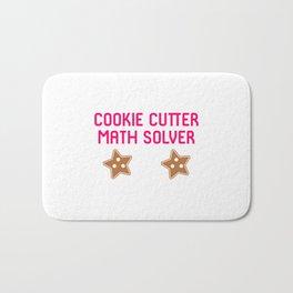 Cookie Math Solver Funny Christmas Teacher Bath Mat