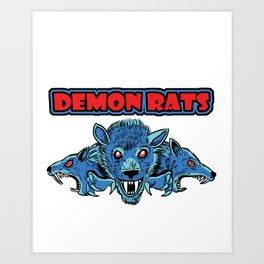 Demon Rats Art Print