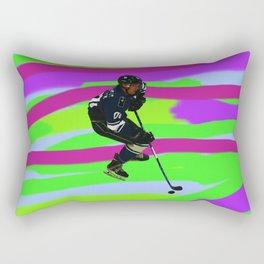 Taking Control- Ice Hockey Player & Puck Rectangular Pillow