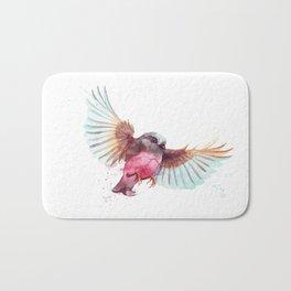 Pink Robin Bird Bath Mat