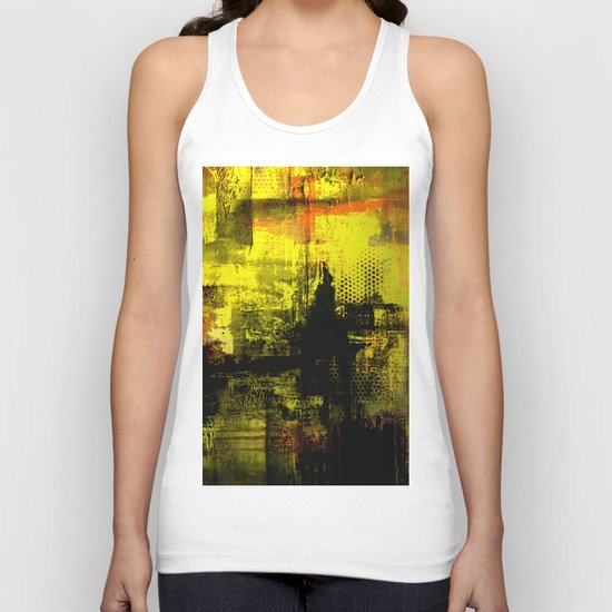 Sail Away - Abstract painting of a boat sailing into the horizon Unisex Tank Top