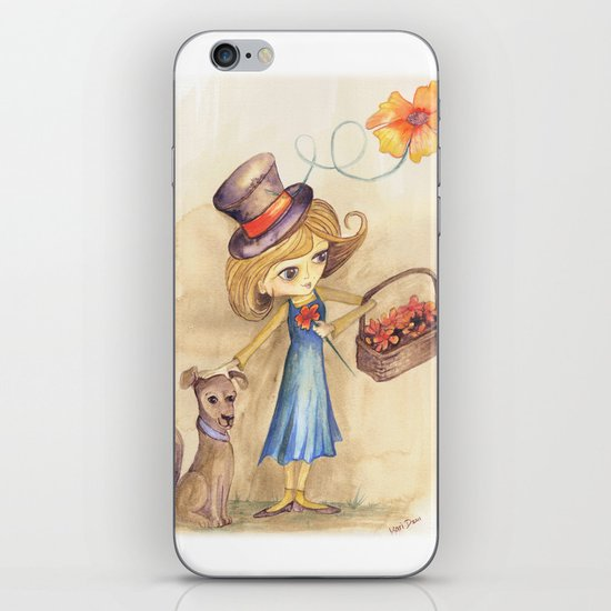 Flower Girl and her friend iPhone & iPod Skin