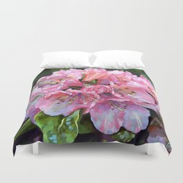 Courtenay Lady Rhododendron Duvet Cover