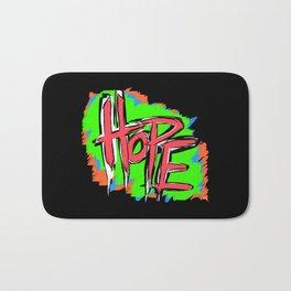 Hope (retro neon 80's style) Bath Mat