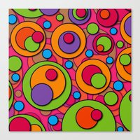 polka dots Canvas Prints featuring Polka Dots by Shelly Bremmer