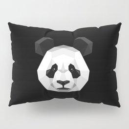 Geometric Panda Pillow Sham