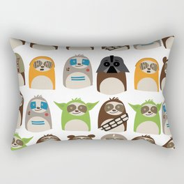 Science Fiction Sloths Rectangular Pillow