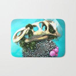 DINOSAUR SKULL ABSTRACT Bath Mat