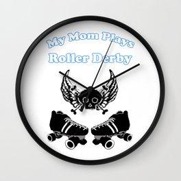 My Mom Plays Roller Derby (Boy) Wall Clock