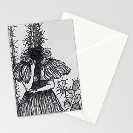 Cactus dress Stationery Cards